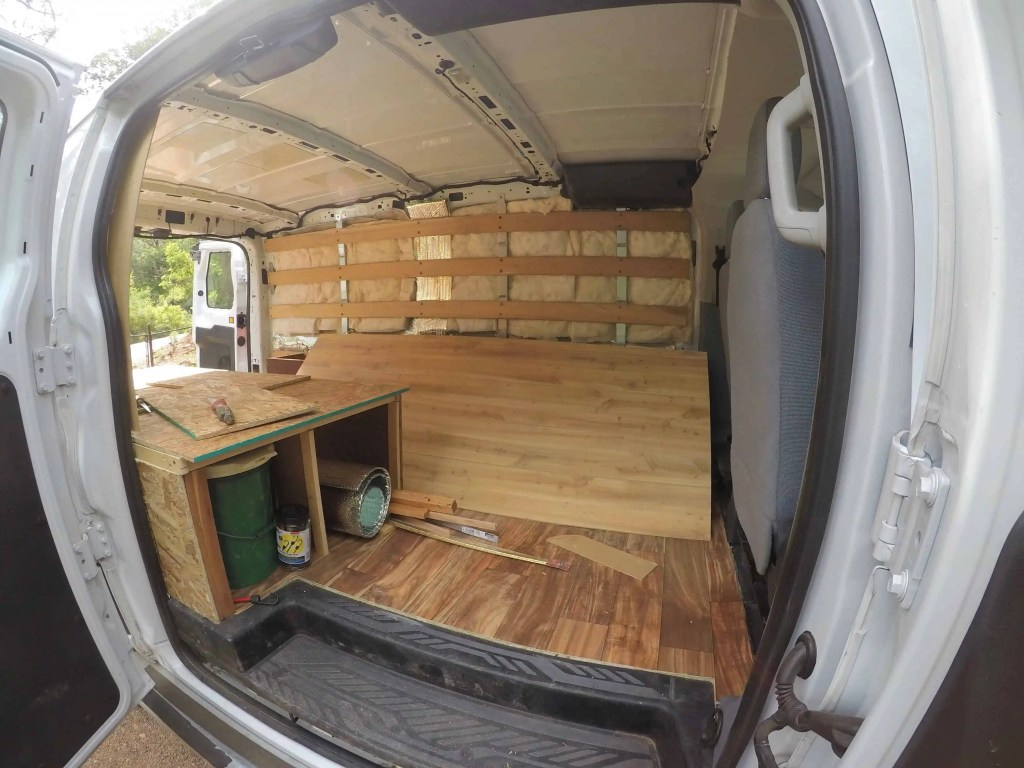 How I Converted A Cargo Van Into An Off Grid Camper For