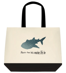 whale shark cotton tote bag