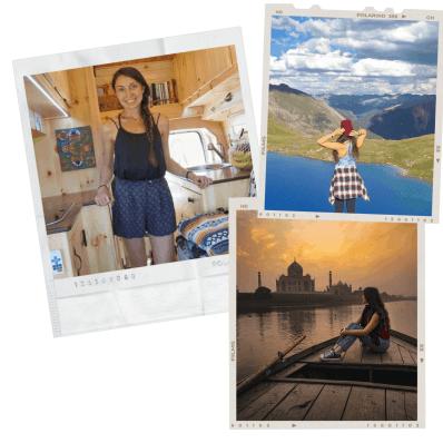 polaroid photo collage of Anna French