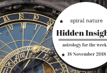 Hidden Insights: Astrology for the week of 18 November 2018