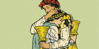 After Tarot, detail from the Two of Cups