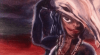Detail from Mother Night, painting by Donyae Coles