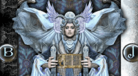 Detail of the High Priestess from the Tarot Illuminati