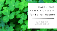 Financials for Spiral Nature March 2018