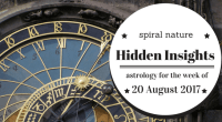 Hidden Insights: Astrology for the week of 20 August 2017