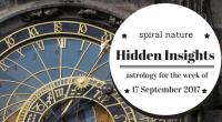 Hidden Insights: Astrology for the week of 17 September 2017