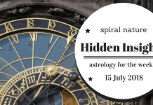 Hidden Insights: Astrology for the week of 15 July 2018