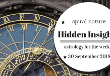 Hidden Insights: Astrology for the week of 30 September 2018