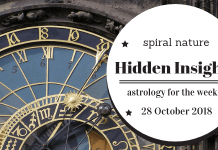 Hidden Insights: Astrology for the week of 28 October 2018