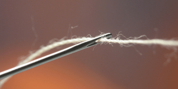 Needle and thread, photo by Andrew Magill