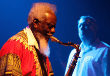 Pharoah Sanders, photo from Wikimedia Commons