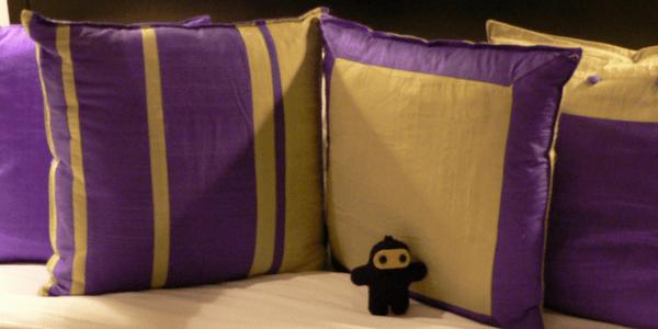 Purple pillows, thotfulspot