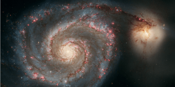 Whirlpool Galaxy M51, photo by Hubble Heritage