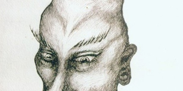 Detail from Kwaw (Idealized Self-portrait), 1935, from Aleister Crowley, courtesy of the Ordo Templi Orientis, New York, Kenneth Anger Accession