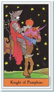 Halloween Tarot, the Knight of Pumpkins