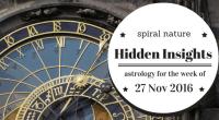 Hidden Insights: Astrology for the week of 27 November 2016