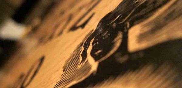 Detail of a Ouija board, photo by Indi Samarajiva