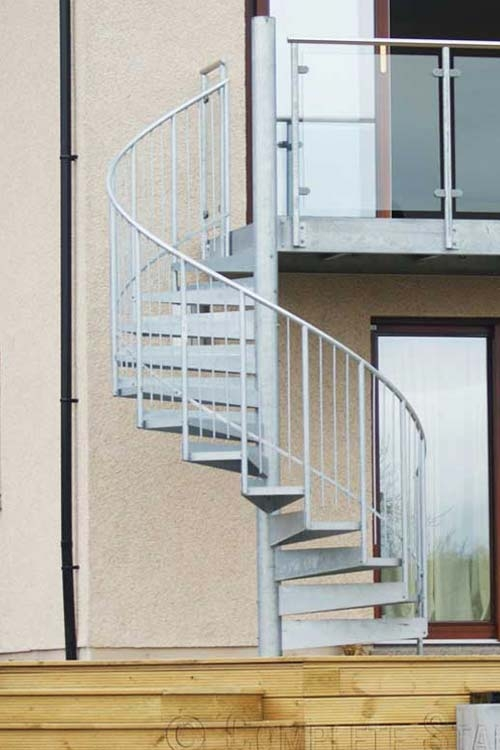 External Spiral Staircase Commercial Domestic External Spiral | External Spiral Staircase For Sale | Stair Treads | Staircase Ideas | Steel Spiral | Metal Spiral | Staircase Railings