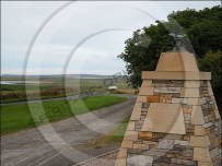 Fresson Cairn overlooking Kirkwall airport