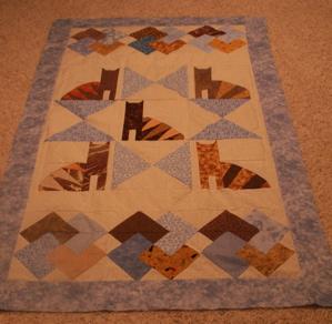 Cat quilt top