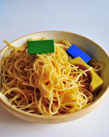 Sensory Toddler Activity: Spaghetti Lucky Dip