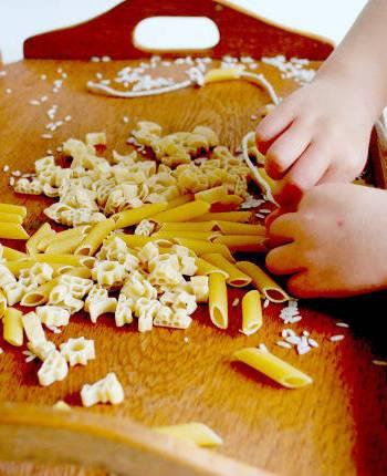 Montessori Rice Pouring & Pasta Threading