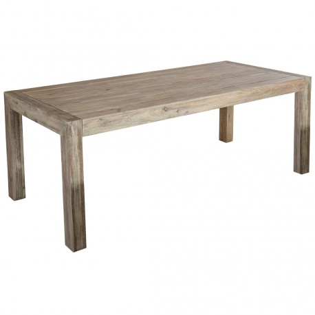 grey outdoor dining table