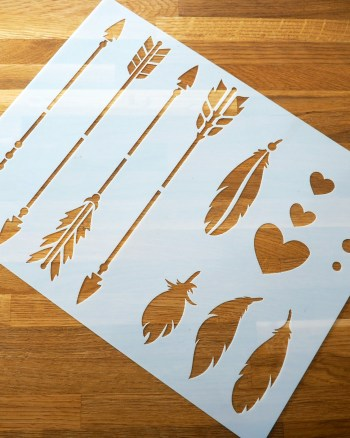 arrow stencils from Stencil Revolution