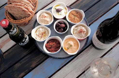 zorba the greek taverna dips platter