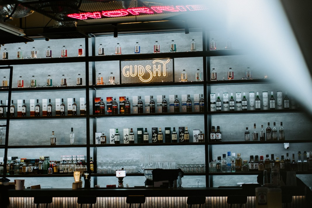 the bar at Gudsht @ Cineleisure