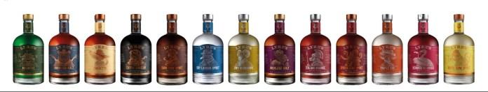Lyre bottles range