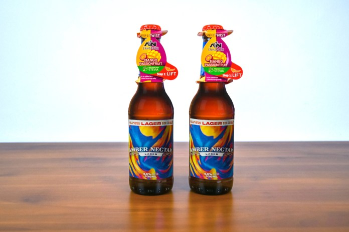 Amber Nectar AN Lager with flavour enhancer