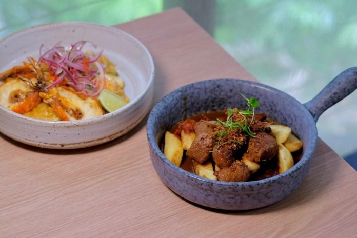 canchita - arroz con mariscos and lomo saltado