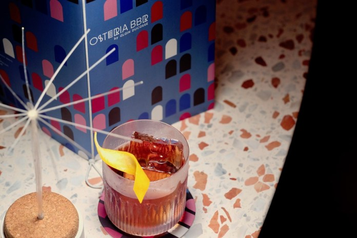 Negroni at Osteria BBR by Alain Ducasse