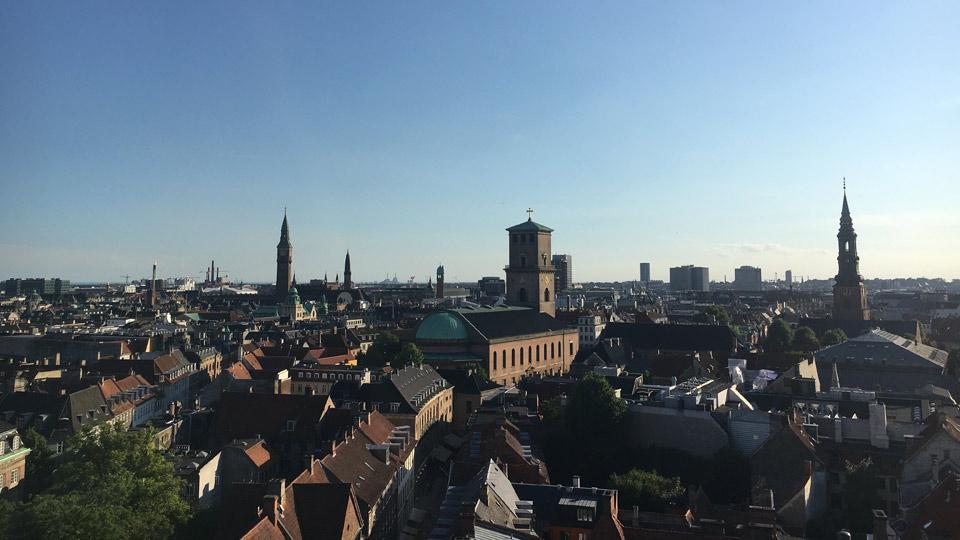 Die Aussicht vom Round Tower über Kopenhagen