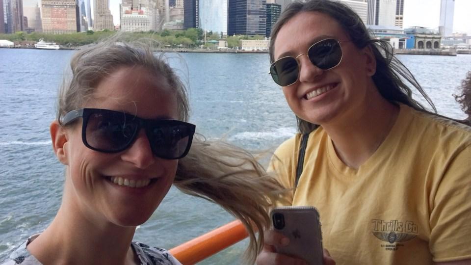 Unterwegs mit Maddy aus Australien auf der Staten Island Ferry
