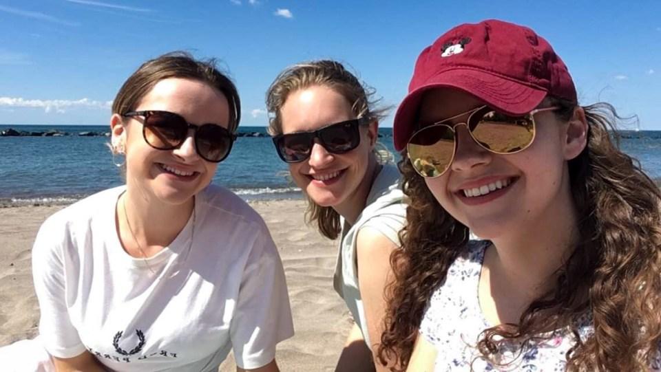 Da war ich mit Lee aus Schottland und Olivia aus Brighton auf Toronto Island