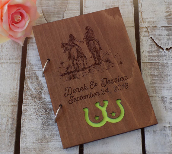 LOVE this wedding guest book from RusticLoveAndWood on Etsy!