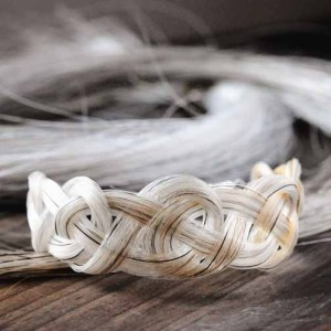 Unique and Custom Celtic Knot Horse Hair Bracelet by Spirithorse Designs