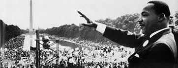 "MLK Jr at the Washington Mall waving to the crowds after giving his infamous ""I Have A Dream"" Speech"