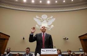 New IRS Commissioner John Koskinen being sworn in at Congressional Hearing