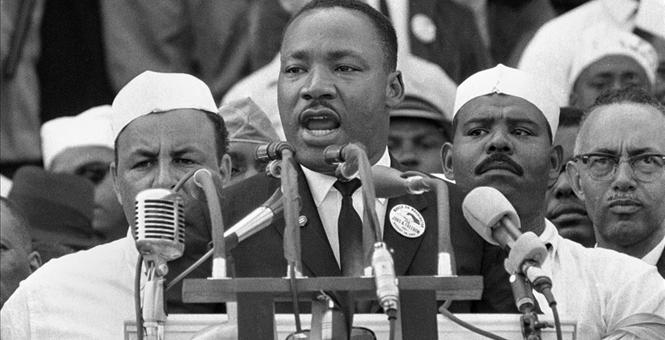 "Martin Luther King Jr. at the Washington Mall giving his infamous ""I Have A Dream Speech"" August 23, 1963"