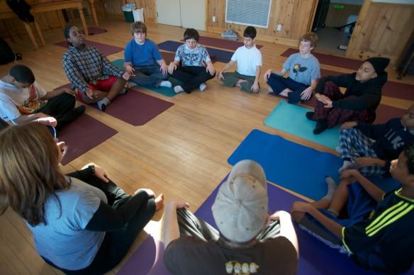 New Leaf Yoga - Meditating Youth