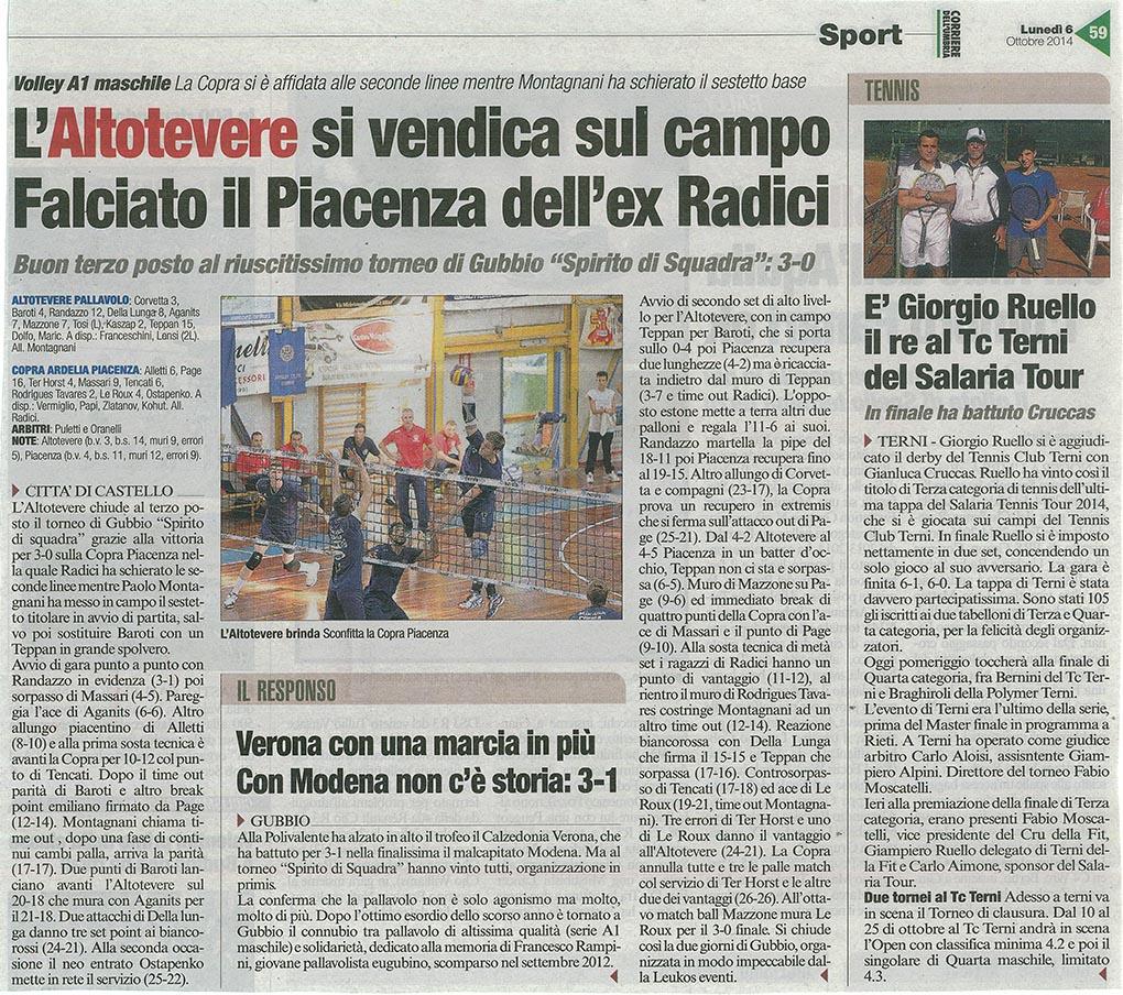 Corriere dell'Umbria - 06.10.14