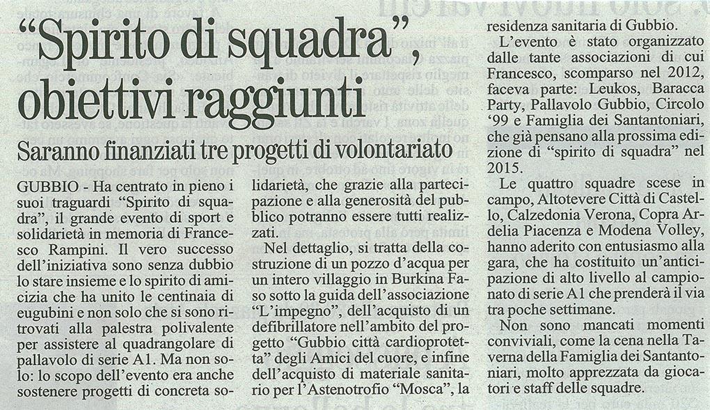 Giornale dell'Umbria - 09.10.14