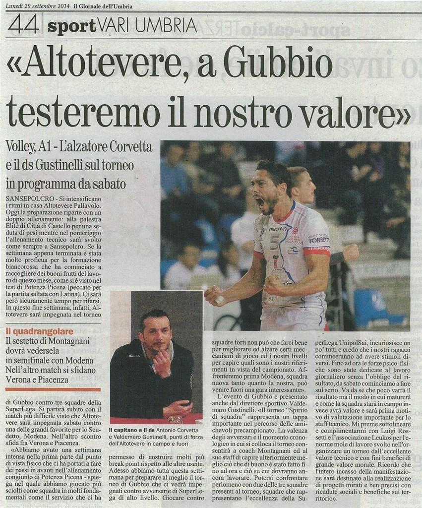 Giornale dell'Umbria - 29.09.14