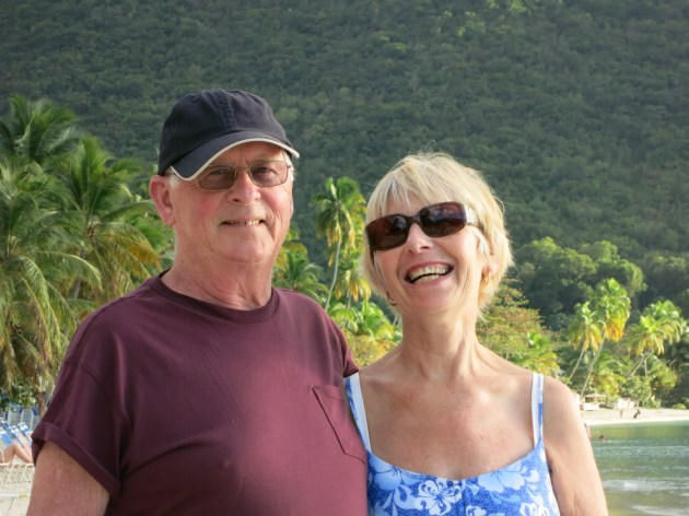 Jimmy and Patsy in Cane Gardens Bay, Tortola, BVIs