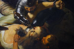 Samson's Being Blinded