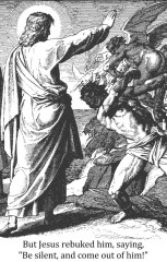 Jesus cast out demon