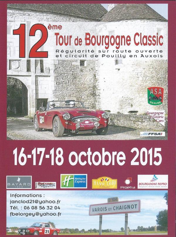 TOUR BOURGOGNE 2015 FLYERS